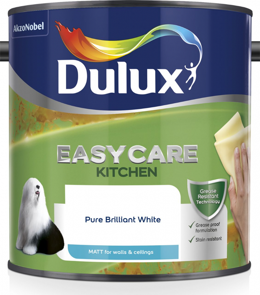 Dulux Easycare Kitchen Matt Pure Brilliant White 2.5L